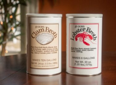 St Ours Clam Broth and Lobster Broth Canisters