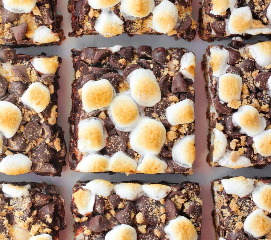 smores cookie bars