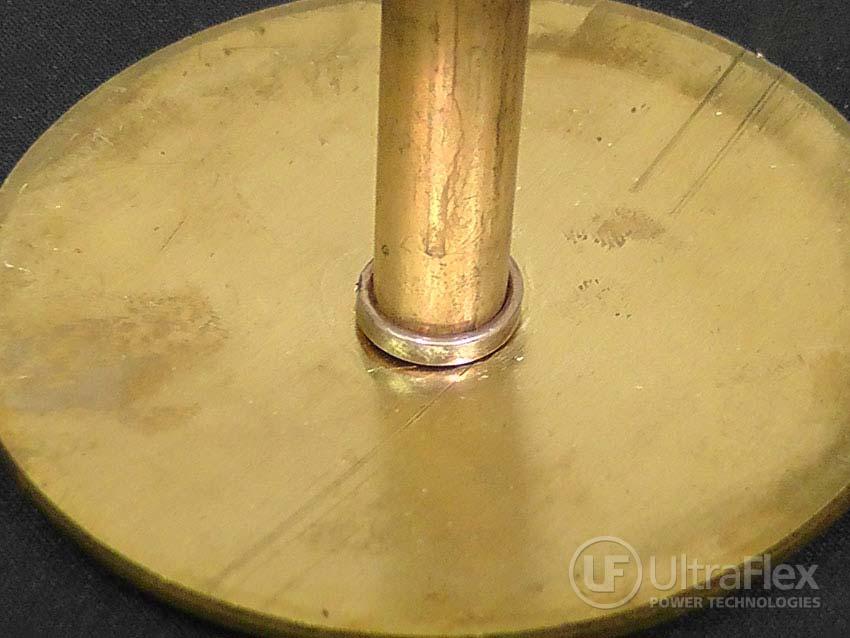 Braze brass stem to brass disk