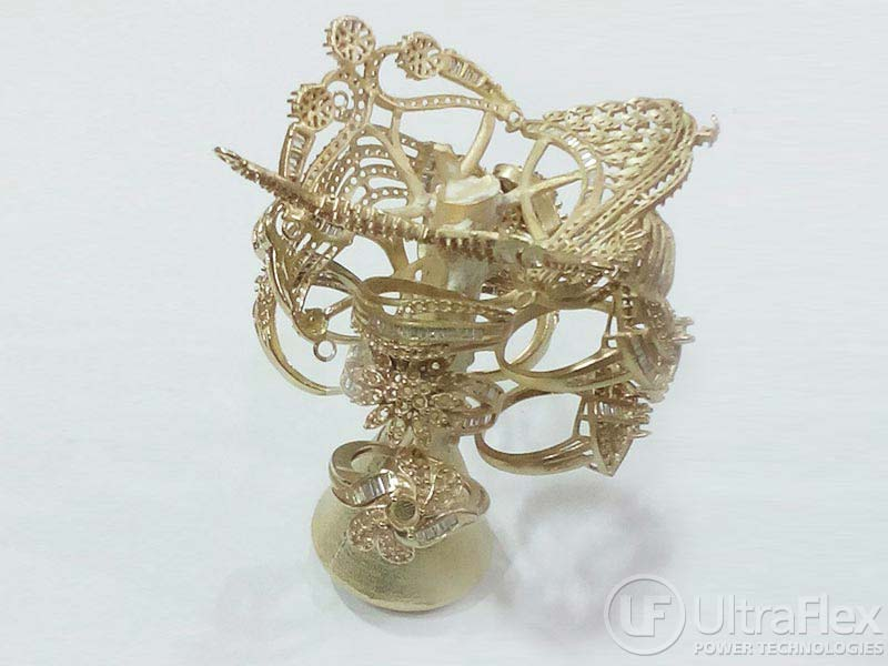Gold jewelry casting