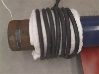 Heating a Steel Pipe with an Air-Cooled Induction Coil