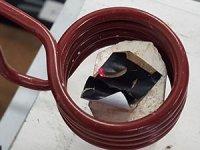 Heating Iron Coated Nanotube Sheets