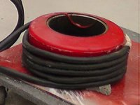 Preheat a steel rim for tire removal with induction