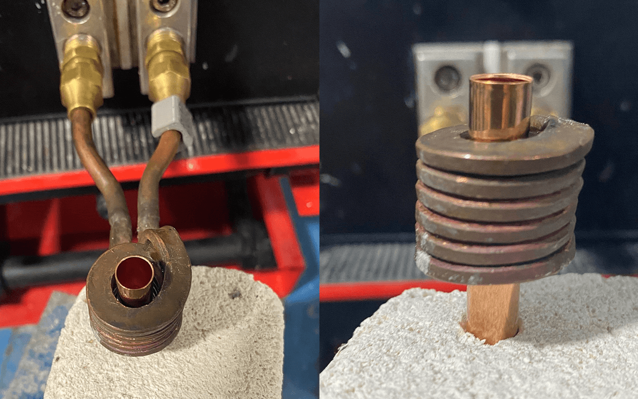 annealing brass bullet shells with induction heating