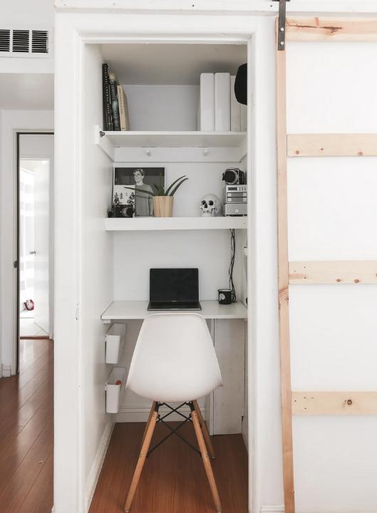 Home Office Idea: A Big Closet
