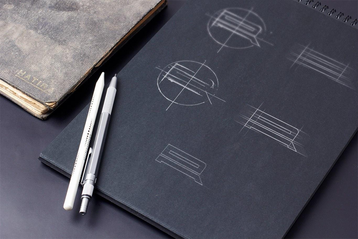 ar monogram sketches
