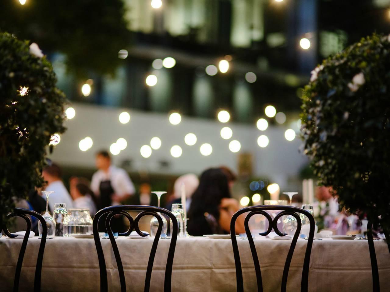 Outdoor dining venue