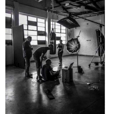 Industrial photo shoot