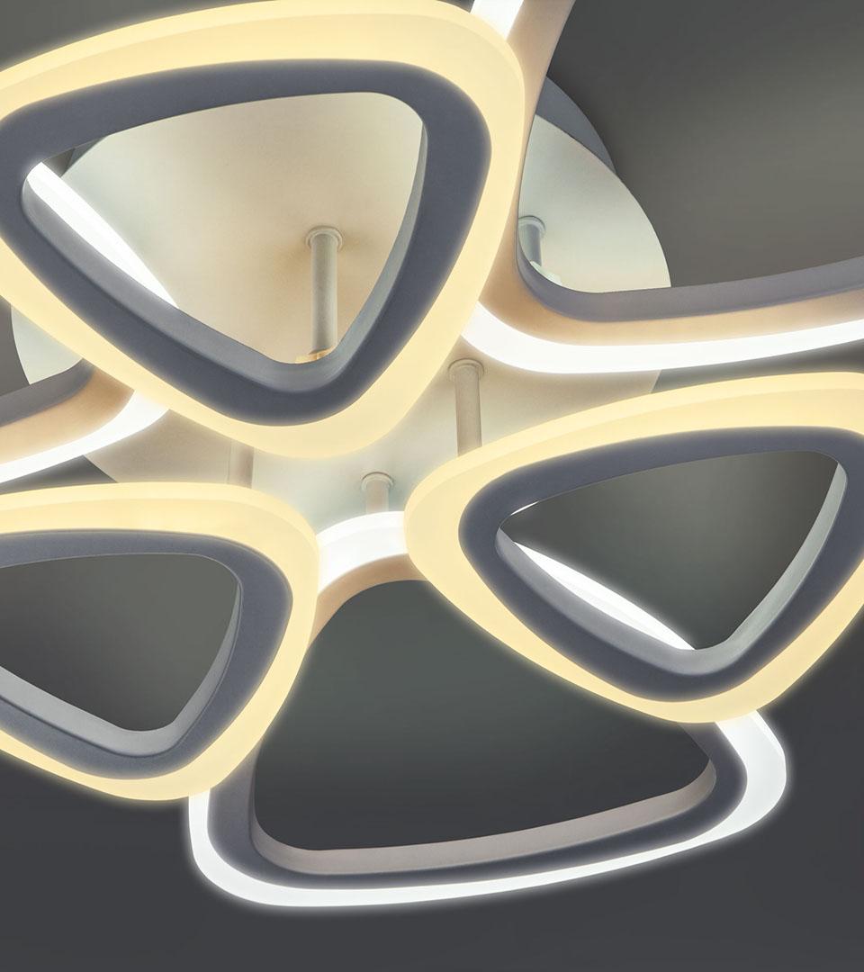 Потолочный светодиодный светильник с пультом управления 90216/6 белый 1