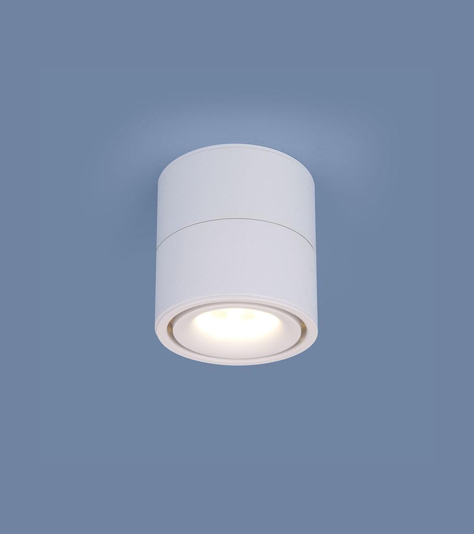 Накладной потолочный светодиодный светильник DLR031 15W 4200K 3100 белый матовый 1