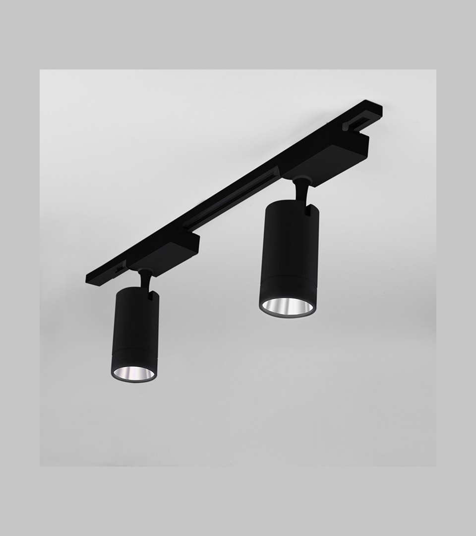 Трековый светодиодный светильник для однофазного шинопровода Baril черный 40W 4200K 1