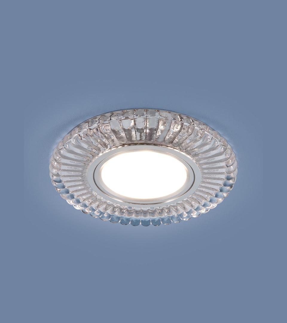 Встраиваемый точечный светильник с LED подсветкой 2