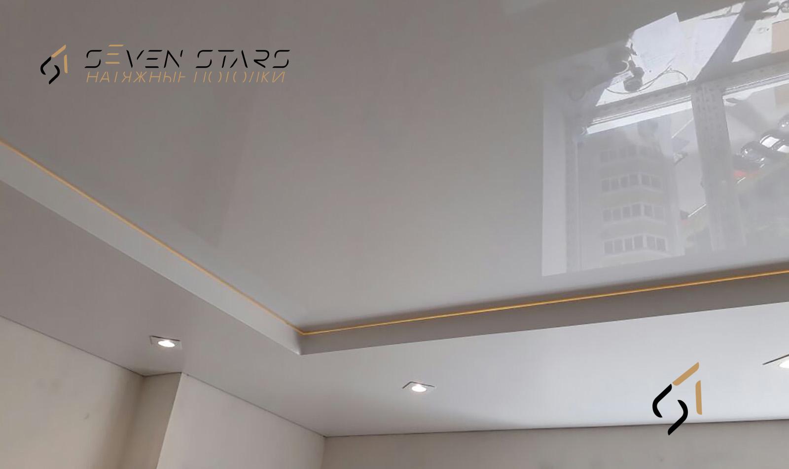 Двухуровневые потолки 48