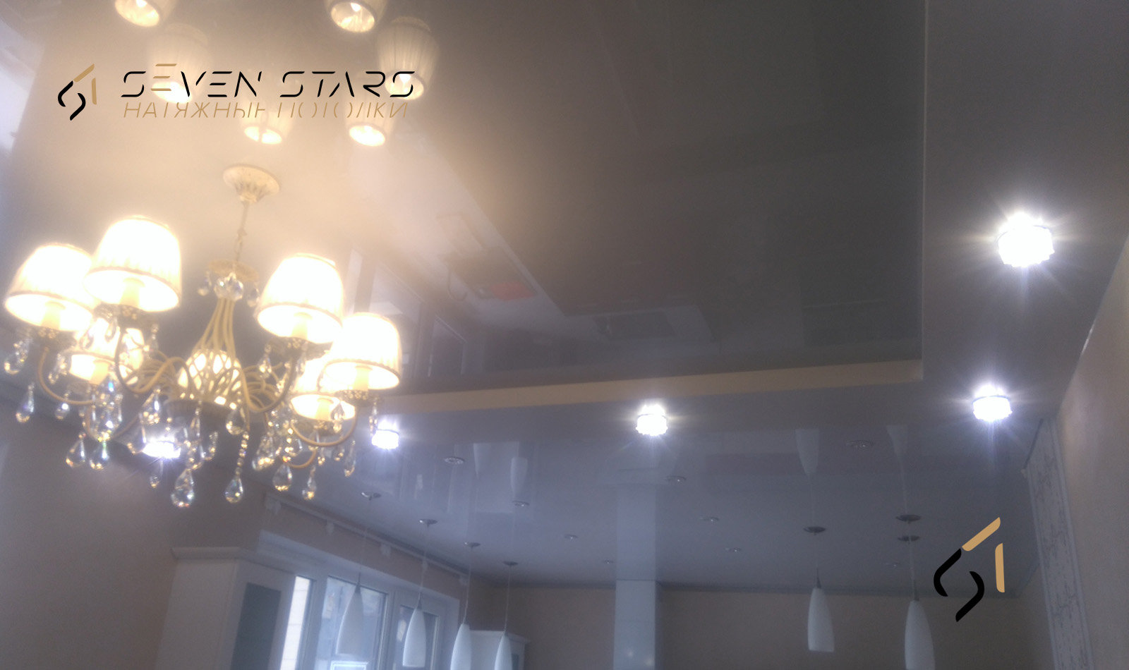 Двухуровневые потолки 12