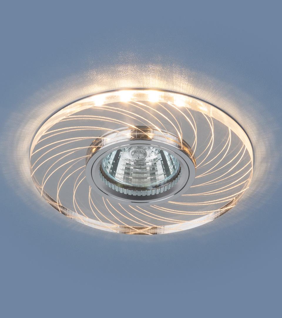 Встраиваемый точечный светильник с LED подсветкой  2203 MR16 CL прозрачный 1