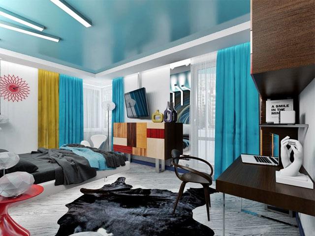 Натяжные потолки в стиле авангард