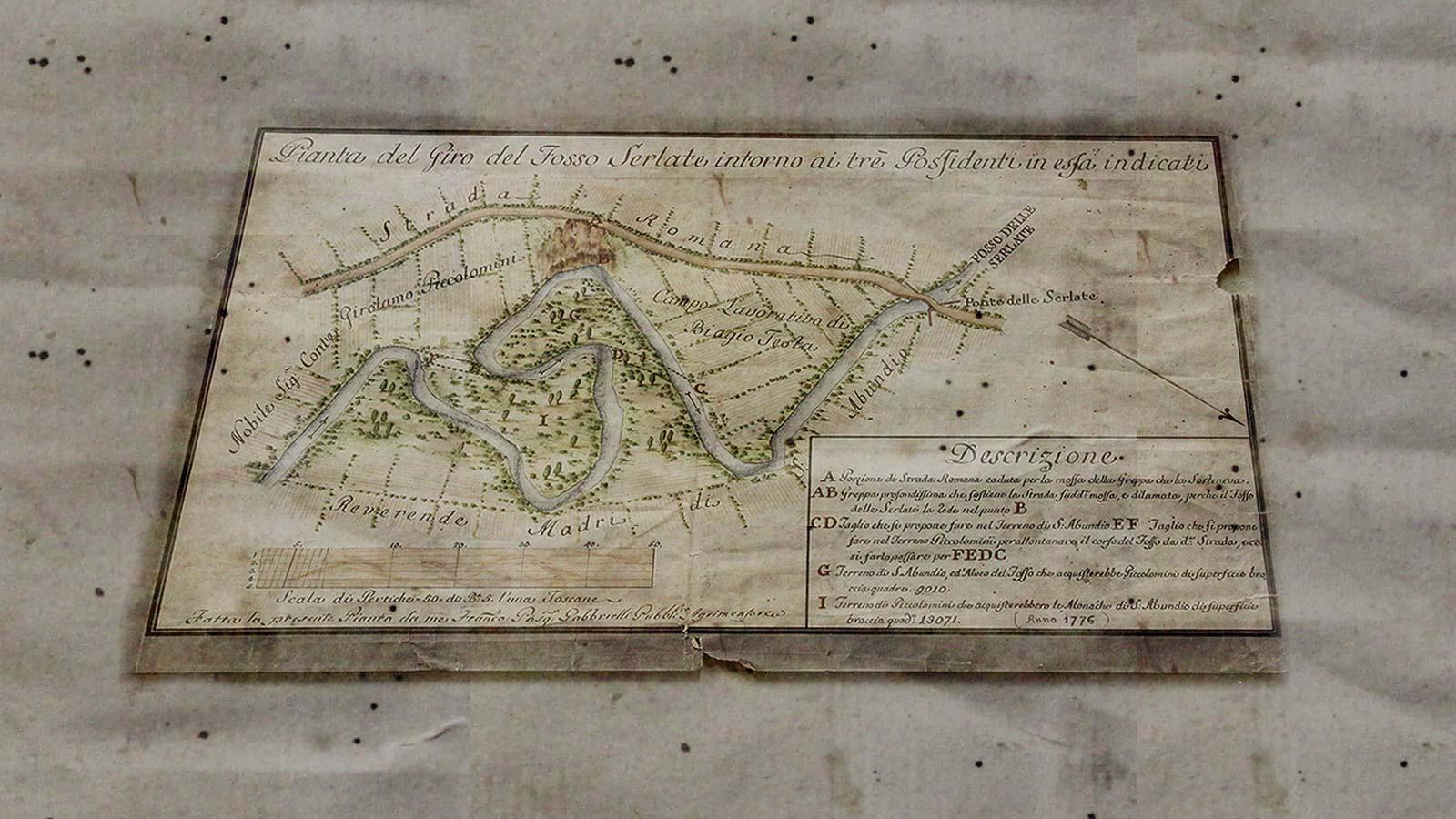 Catasto-Strada-Romana-17761