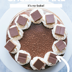 Millionaire's Cheesecake Pinterest image with text overlay.