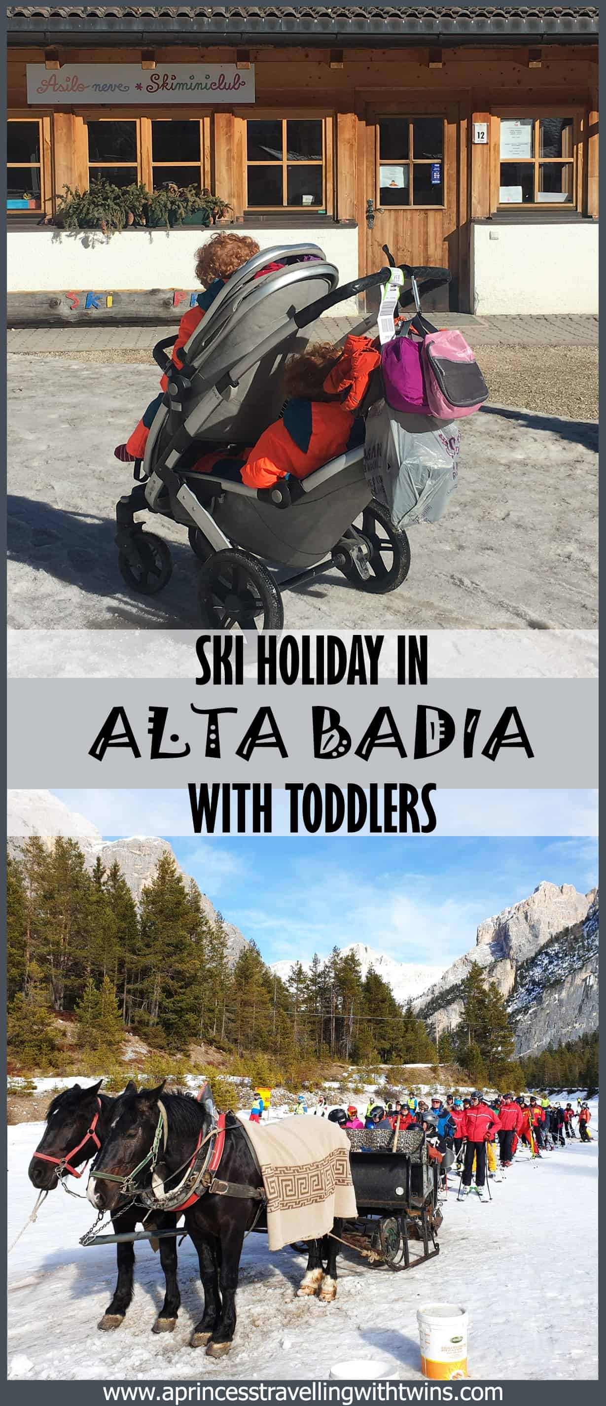 Alta Badia is the perfect place to go on a ski holiday even if you have toddlers. Facilities are super and the ski resort is so big that you can ski everyday on a different slope. Have a look at my suggestion about where to ski, where to eat on the slopes and all the practicalities if you have kids.