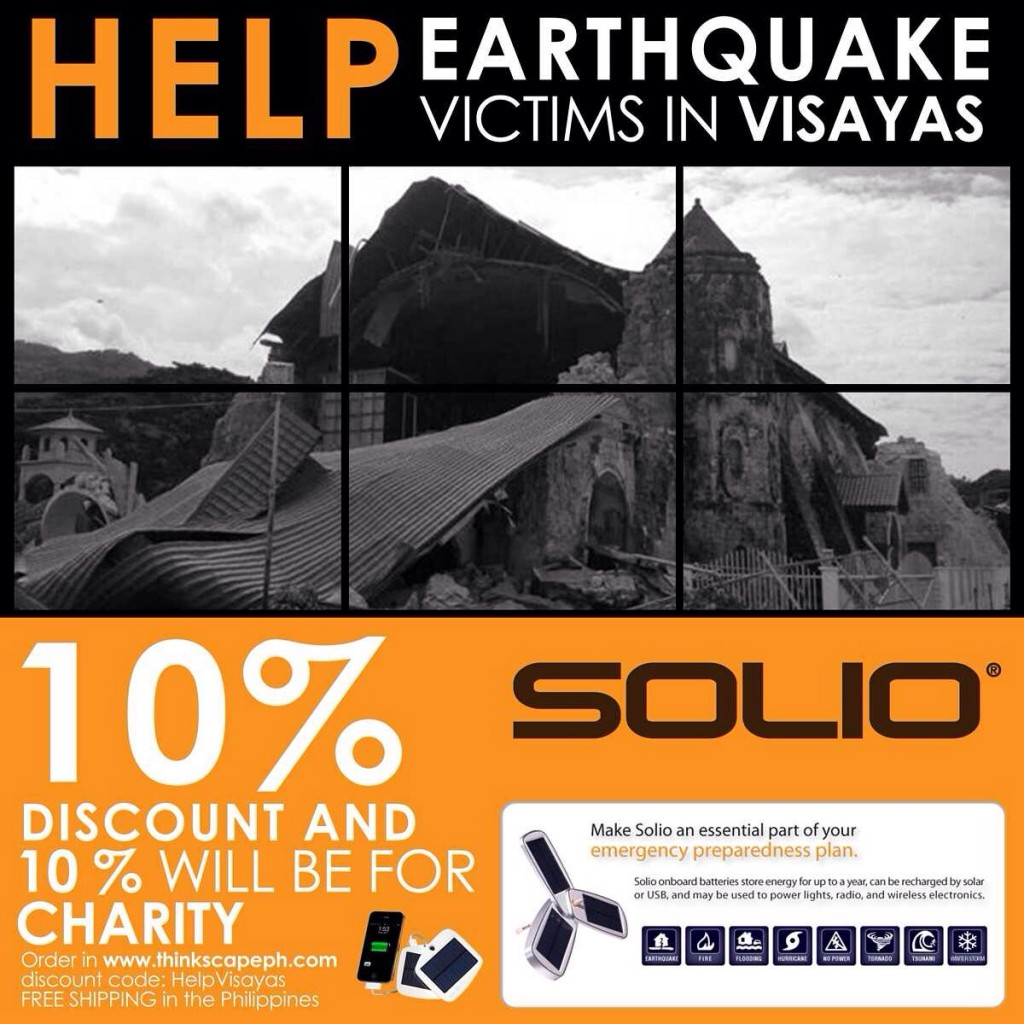 Get A Solio and Help Earthquake Victims in Visayas