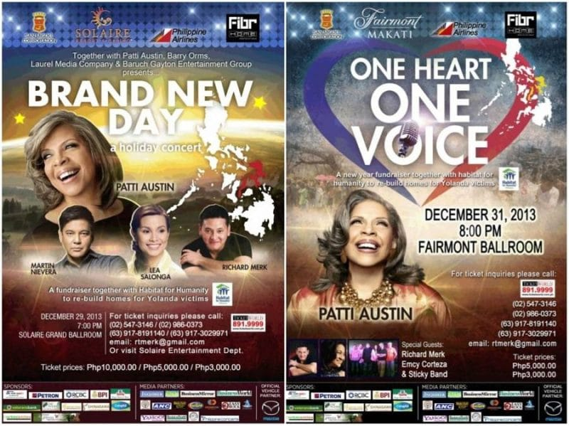 Patti Austin is coming back to the Philippines for a series of benefit concerts!