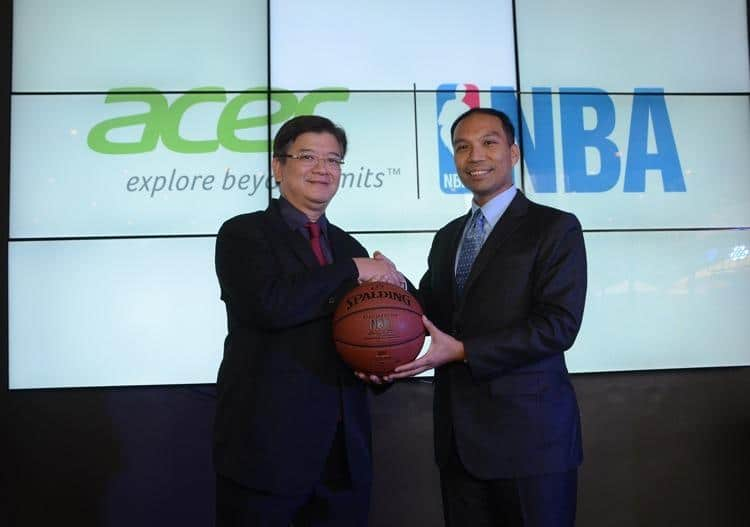 Acer NBA forge exciting promotional partnership