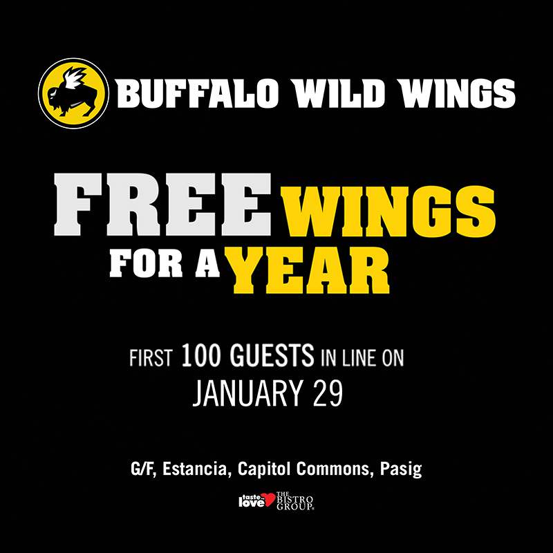 Buffalo Wild Wings – Now open! Win FREE WINGS FOR A YEAR!