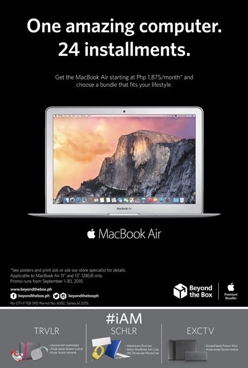 Beyond the Box's MacBook Air Lifestyle Bundles!