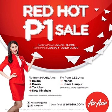 It's the Philippines AirAsia RED HOT PISO SALE again!