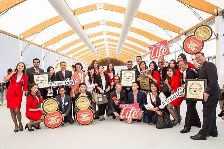 AirAsia wins at the Skytrax Awards for the 8th straight year!