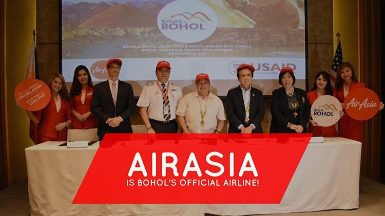 AirAsia is Bohol's official airline partner!