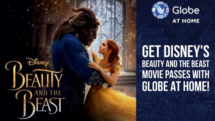 Get Disney's Beauty and the Beast movie passes with Globe At Home!