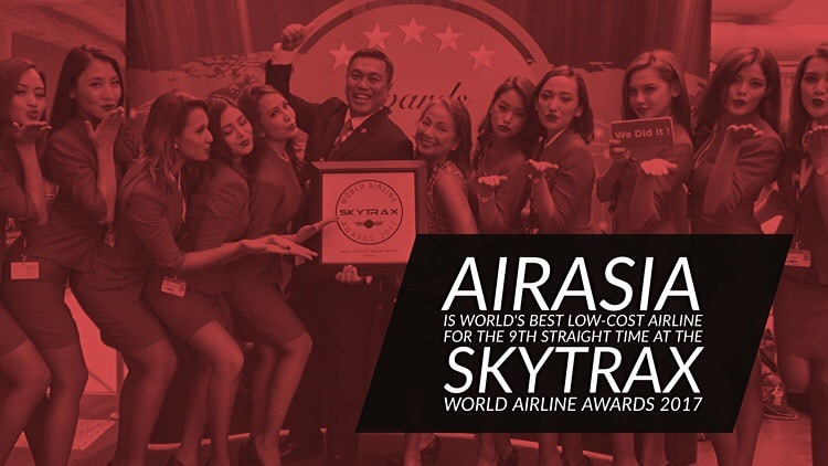 AirAsia is World's Best Low-Cost Airline for the 9th time at the 2017 Skytrax Awards