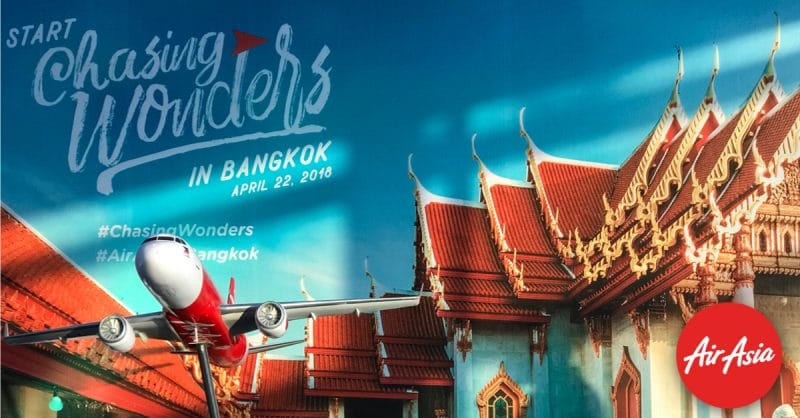 Fly direct from Manila to Bangkok via AirAsia now!