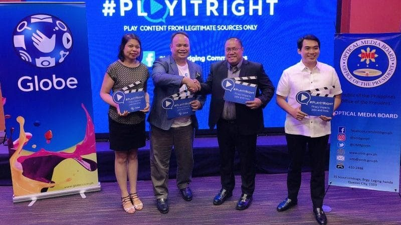 Optical Media Board supports Globe's #PlayItRight campaign