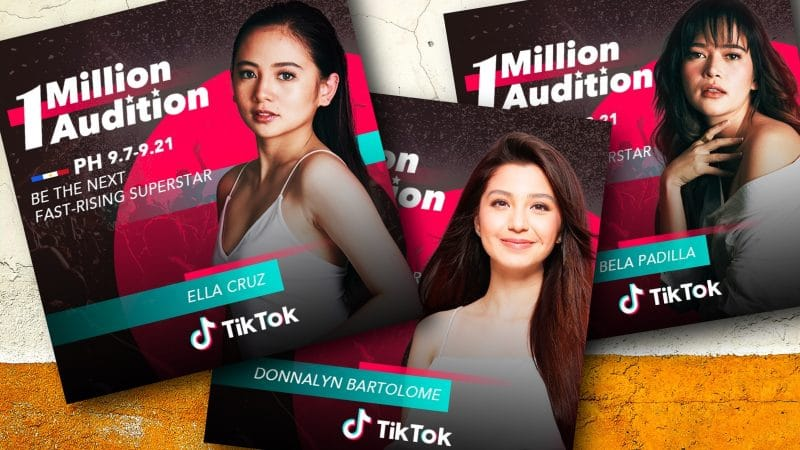 Bela Padilla, Ella Cruz, Donnalyn Bartolome lead TikTok's 1 Million Audition in the Philippines