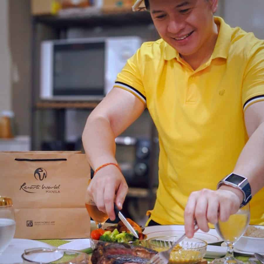 I enjoyed a Resorts World Manila Father's Day feast at home! You can, too!