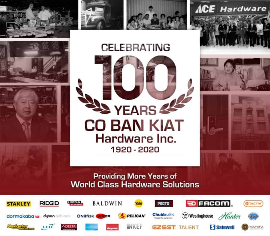 Co Ban Kiat Hardware: 100 Years of Providing World Class Hardware Solutions