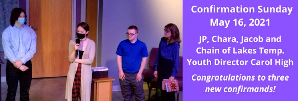 2021 Confirmands. Click to see all