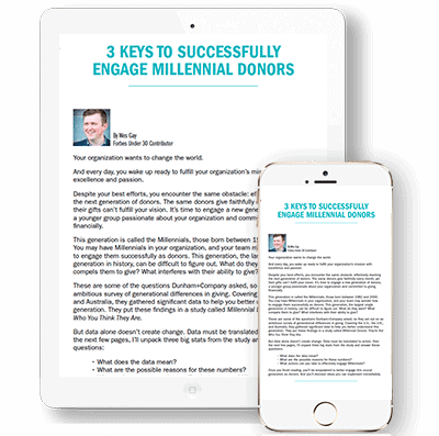 3 Keys to Successfully Engage Millennial Donors White Paper