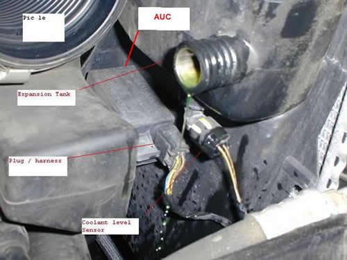 BMW AUC Sensor Location