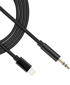 Lightning compatible naar 3.5mm aux-kabel - 0.9m - Zwart