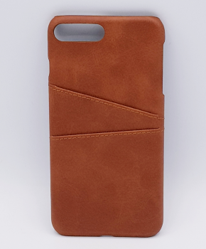 Voor IPhone 7 Plus - kunstlederen back cover / wallet bruin