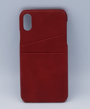 Voor iPhone Xs Max - kunstlederen back cover / wallet - rood