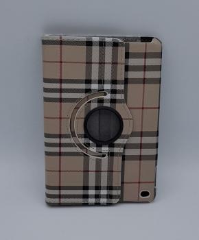 Voor iPad mini 4 case / hoes  - Geruit - bruin