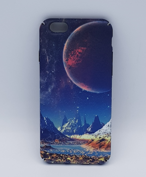 iPhone 6 / 6S hoesje  - mountains in a red moon