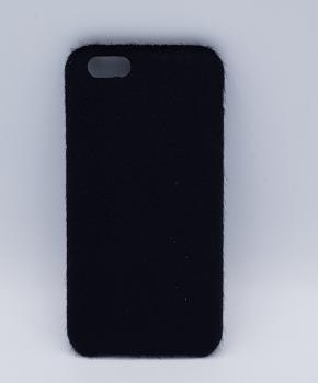 zacht pluizig - zwarte - back case voor iPhone 6