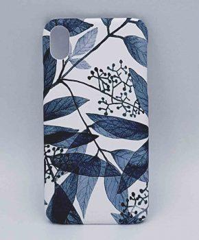 iPhone XR - hoesje - blue leaves