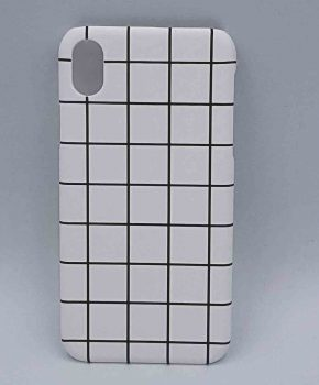 iPhone XR - hoesje - witte ruitjes