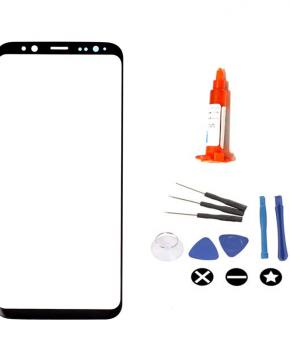 Voor Samsung Galaxy S9 Plus vervangglas + loca lijm - zwart
